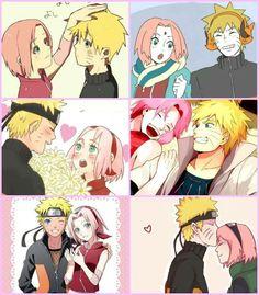 Naruto x Sakura | NaruSaku | Heaven & Earth | Orange / Yellow & Pink / Red | The Hero & The Heroine | Naruto Shippuden Couple | OTP