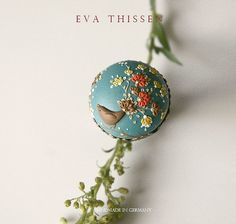 The Nightingale. Beautiful handmade polymer clay adjustable ring. Made to order. by Eva Thissen Gallery, via Flickr
