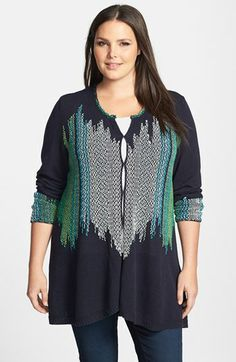 NIC+ZOE 'Color Weave' Cardigan (Plus Size) available at #Nordstrom
