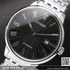 Citizen Mechanical Automatic Sapphire Two Tone Mens Dress Watch NJ0084-59A