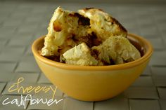 Cheesy Roasted Cauliflower [Vegan/Gluten Free]
