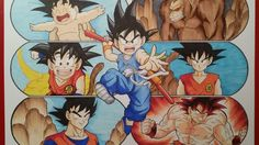 Drawing The Evolution of Goku | Part 1 | GIVEAWAY