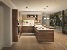 Küche Holz: Nussbaum natur geölt