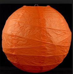 Oransje rislamper til Halloween