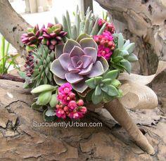 Succulent bouquet sustainable