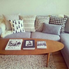 scandinavian cushions sofa - Google Search