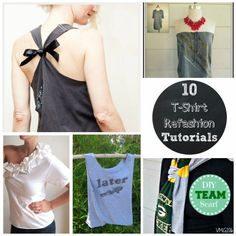 10 amazing t-shirt refashion tutorials from Endlessly Inspired