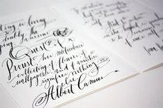 Calligraphy Inspiration: Stephanie Fishwick Calligraphy & Design