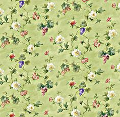 Dolls House   Wallpaper 1/12th or 1/24th scale Quality Paper Green Dollhouse Miniature  #231