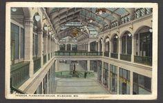 Interior Plankinton Arcade Milwaukee Wisconsin Nevada Vintage Postcard