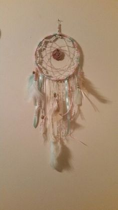 Pretty in pearls and pastels dreamcatcher, by Katies Creations