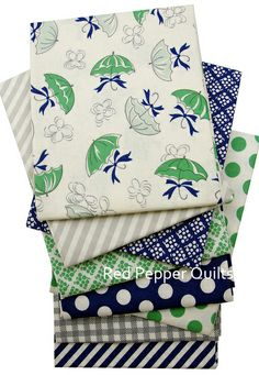 Red Pepper Quilts: Sunday Stash #210 - April Showers by Bonnie and Camille