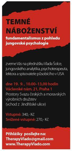 Přednáška: Temné náboženství Vlado Šolc Psychology