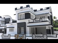 Athani, 5 cents plot and 1750 sq ft, modern style house ( SOLD ) - 3 Storey House Design, Two Story House Design, Modern Small House Design, Modern Exterior House Designs, Village House Design, Kerala House Design, Bungalow House Design, House Front Design, House Outside Design