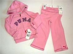 You are bidding on beautiful baby girl 2pc fleece set      from Puma    Absolutely ADORABLE!    Size is 2T      Color: Pink    Brand NEW with tags!    Retails for $48!