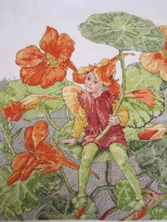 fairy, counted cross-stitch