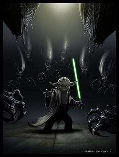 Yoda Vs. Aliens - Badass Fan Art - News - GeekTyrant