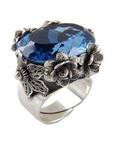 #YvonneChrista for #FirstPeopleFirst #anello in #argento #925 #anello #silver #bohochic #hippiechic #Style#fashion #blue