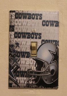 Dallas Cowboys Light Switch Cover Plate by btpart on Etsy