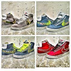 #NikeBlazer high #LimitedEdition customized by #Muffin ...nuovissima collezione 2013 2014 disponibile sul nostro sito www.muffinshop.it