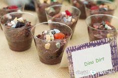 Dinosaur Birthday Party: Yummy Dino Dirt Snacks