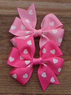 Pick ONE Valentine's Day Hair Bow~Bows for Valentines~Valentine's Day Bow~Pink Hair Bow~ Small Hair Bow~Boutique Hair Bow~Pinwheel Hair Bow by LizzyBugsBowtique on Etsy Pink Hair Bows, Ribbon Hair Bows, Ribbon Flower, Fabric Flowers, Hair Bow Tutorial, Flower Tutorial, Handmade Hair Bows, Boutique Hair Bows, Diy Hair Accessories