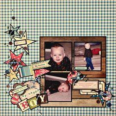 My Little Scrap Corner: CS Sketch my happy boy Baby Scrapbook, Scrapbook Cards, October Afternoon, Happy Boy, Scrapbooking Layouts, Happy Mothers Day, Little Boys, Kitty, Crafty