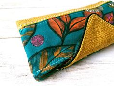 Boutique Etsy, Coin Purse, Creations, Vegan, Purses, Wallet, Yellow Leather, Green Fabric, Velvet