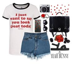 """You Look Great Today"" by ritaflagy ❤ liked on Polyvore featuring H&M and Fujifilm"