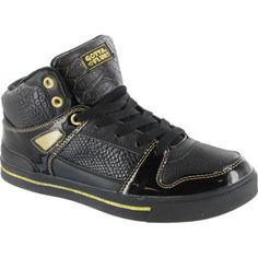 """The casual Hi Top lace up sneaker features an extra cushioning insole and collar. It has a 1/2"""" rubber bottom."""