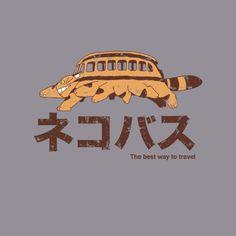 Studio #Ghibli: My Neighbor #Totoro: #Catbus t-shirt.