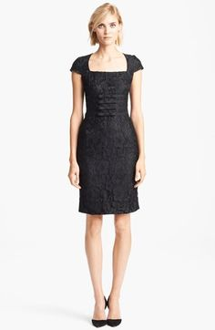 Moschino Cheap & Chic Bow Detail Lace Dress available at #Nordstrom