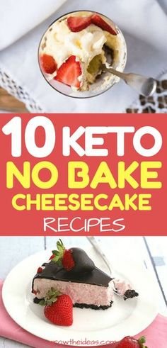 You can save preparation time, baking time with another healthier version of cheesecake: keto no-bake cheesecake. Just check out the low-carb recipes below!