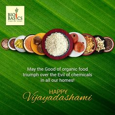 May the Good of organic food Triumph over the Evil of chemicals in all our homes! Biobasics wishes you a Happy Vijayadashami! Organic Recipes, Homes, Good Things, Happy, Food, Houses, Home, Meals, Yemek