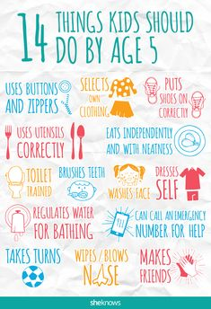 14 things kids should do by age 5 – SheKnows Parenting Toddlers, Parenting Hacks, Toddler Activities, Learning Activities, Teaching Kids, Kids Learning, Things To Know, How To Memorize Things, Before Kindergarten