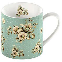 Katie Alice Cottage Flower Green Floral Mug. #vintage #floral