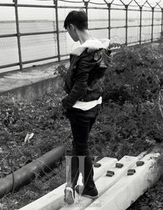 Tabi- W Magazine November Issue '13 ~~ The back of the neck that gives him problems sometimes.