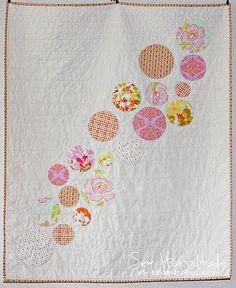 pink & orange bubble quilt