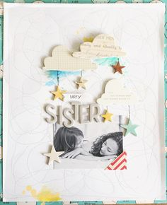 #papercraft #scrapbook #layout. Head in the Clouds by ShannaNoel at @studio_calico