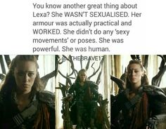 I freakin' love this show. So many strong female characters. The 100 Cast, The 100 Show, It Cast, Lexa The 100, The 100 Clexa, The 100 Quotes, Lexa Y Clarke, Cw Series, Alycia Debnam Carey