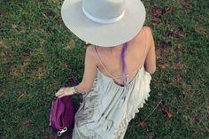 #stardustbohemian #lookbook #chictopia #style #fashion #blogger #fashionblogger #freepeople #dress #maxidress #purplehair #sheandlo #purse #jewelry #rings