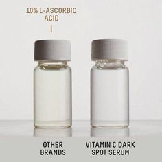 A difference you can see. 👀 Vitamin C is a wonderful, yet tricky ingredient because it's oxidant prone. A color change in your vitamin C (like this one) signals a breakdown in efficacy due to oxidation. In other words, it's not working as well as it could. That's why we use Ethyl Ascorbic Acid, a stable derivative of vitamin C, in our Squalane + Vitamin C Dark Spot Serum. - Have you added a vitamin C product to your skincare routine? Tell us about it. Cc Cream, Hand Cream, How To Apply Foundation, Eye Treatment, Cleansing Gel, Rose Oil, Dull Skin, Skincare Routine, Dark Spots