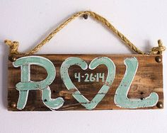 Personalized Wedding Anniversary Sign on Reclaimed Wood Beach Wedding Country Wedding Reception Vintage Wedding Photo Prop Bridal Shower