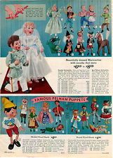1962 ADVERTISEMENT Marionettes Pelham Puppets Wood Heads Hansel Gretal Pinocchio