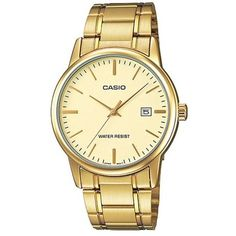 feb99a6d8e6 Casio Gold-Tone Stainless Steel Ladies Watch LTP-V002G-9AUDF