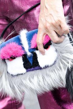 """Monster Inspired Fashion. """"Fendi Mini Monster Baguette Bag"""" $4,450 I love these colors."""