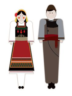 illustrations based on the traditional garments of Greece.Goal of the project is to present each regional costume in a modern way using basic shapes but close to the originals forms, colors and patterns. Basic Shapes, Traditional Fashion, Motor Activities, Fine Motor, Greece, Family Guy, Victorian, Costumes, History