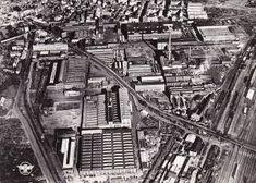 HANNOVER Luftbild der Hanomag-Werksanlagen 1955