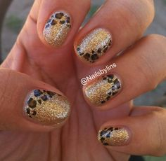 Leopard and gold