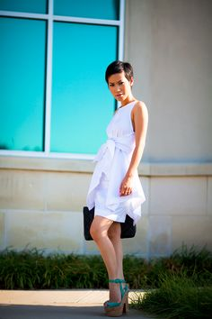 Adore her haircut and those Louboutins...ahh!